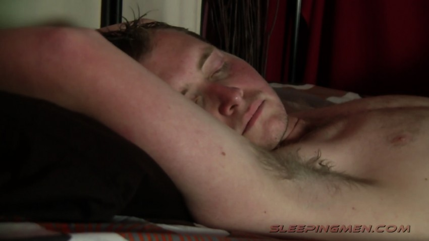 Played with cock while guy was sleeping