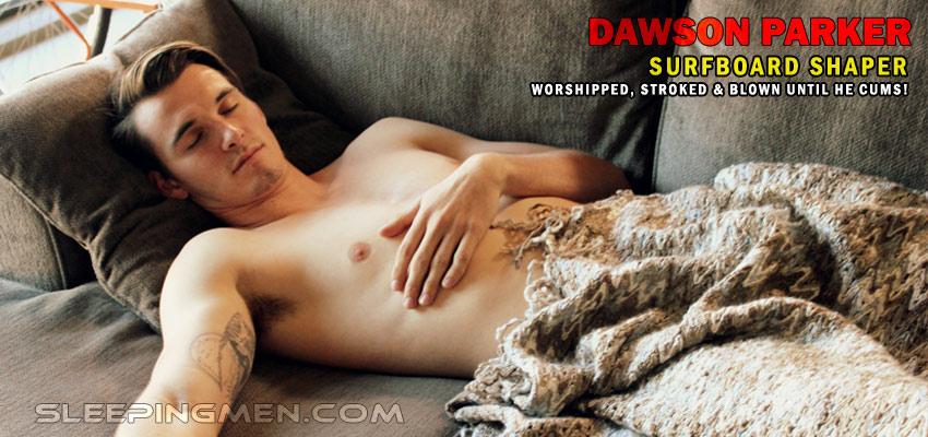 Sleeping naked men